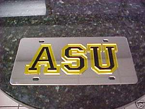 APPALACHIAN STATE UNIVERSITY LICENSE PLATE TAG STAINLES