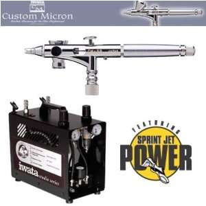 : Iwata Custom Micron CM SB Airbrushing System with Power Jet Pro Air