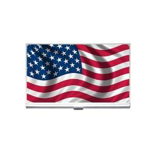 USA flag Business Card Holder