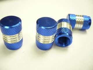 Anodized Aluminum Tire Valve Stem Caps 4 pcs