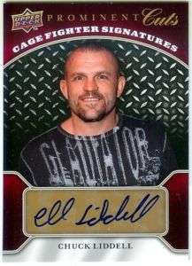 CHUCK LIDDELL 2009 UD PROMINENT CUTS UFC AUTO AUTOGRAPH