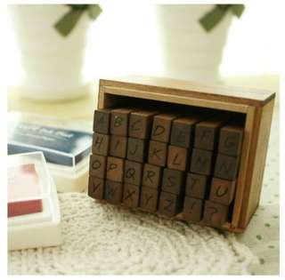 Alphabet Uppercase Stamp set Hand writing type 28pcs