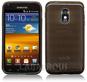 SAMSUNG GALAXY S II EPIC TOUCH 4G SEMI CLEAR BROWN SOFT TPU CASE FOR