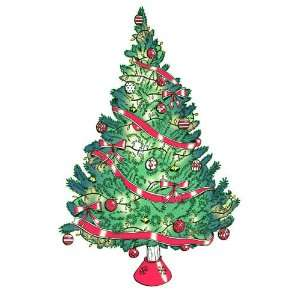Wall Hugs Christmas Tree   Christmas Wall Art Decal