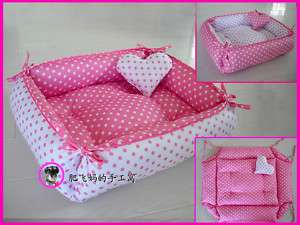 Sweet Princess Dog Cat Handmade Bed House 100% Cotton