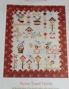 Home Tweet Home Quilt Pattern Stitch Studios Blue Birds