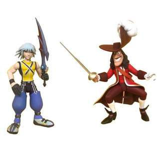 Kingdom Hearts Series 1 Riku with Captain Hook Action Figures 2 Pack