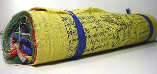 Traditional Tibetan ~ PRAYER FLAGS ~ Large Rolls x 15