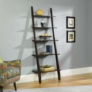 Edge RTA Grand Lake Ladder 5 Shelf Wood Bookcase   Espresso