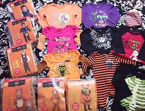 BOY GIRL BABY INFANT TODDLER HALLOWEEN COSTUME SHIRTS NB 0 24 MONTHS