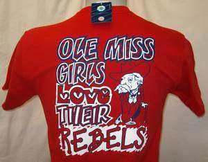 Ole Miss Youth T shirt Ole Miss Girls Love Their Rebels