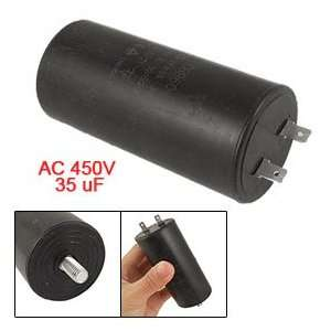 AC 450V 35uF Capacitance White Plastic Case Motor Start up Capacitor
