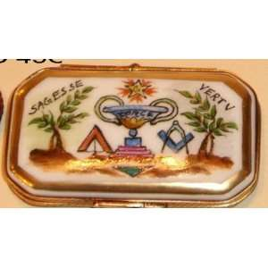 Masonic Freemason Freemasonry Rare French Limoges Box