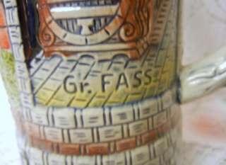 German Lidded Beer Stein Mug 1000 Edition Heidelberg KING |