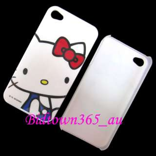 4S 7pcs x Hello Kitty Hard Plastic Back Case Cover Skin Pouch
