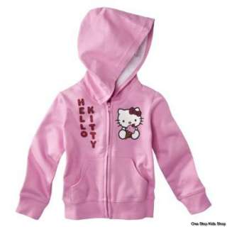 HELLO KITTY Girls 2T 3T 4T Sweatshirt HOODIE Shirt Top Jacket Coat ICE