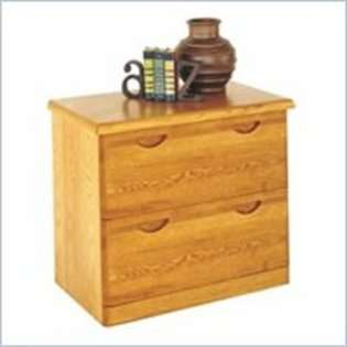 Furniture Waterfall 2 Drawer Lateral Wood File Storage Cabinet in Oak