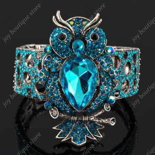 crystal owl night bird stretch Elastic fashion jewel bracelet bangle