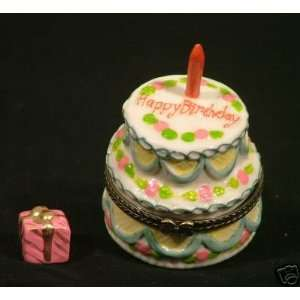 Hinged Boxes HAPPY BIRTHDAY CELEBRATION CAKE Keepsake Trinket Box