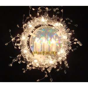 7 Lighted Holographic Candle Christmas Tree Topper
