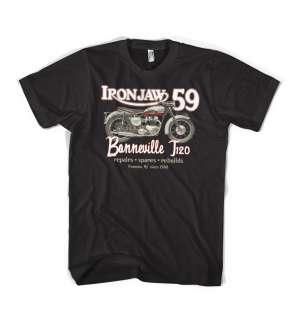 Classic 1959 Triumph Bonneville motorcycle T120 vintage t shirt