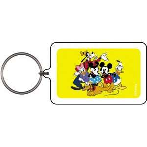 Disney Mickey & Friends Group Lucite Keychain K DIS 0048