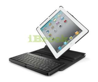 Swivel Hard Case Cover Stand w/Bluetooth Keyboard for iPad 2