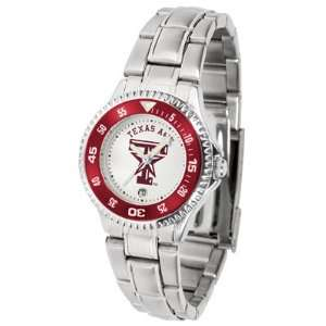 Texas A&M Aggies TAMU NCAA Womens Competitor Steel Band Watch: Sports