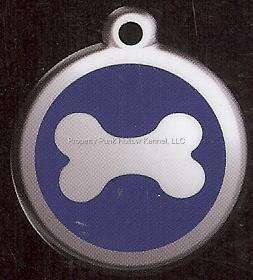 Red Dingo Dog Cat Pet ID Tag ~ (DOG BONE)