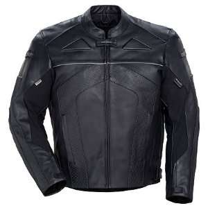 Series II Mens Leather Motorcycle Jacket Black Extra Small Automotive