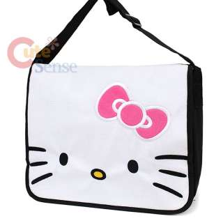 Sanrio Hello Kitty Messenger Bag Plush Face School Bag