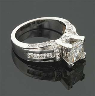 21 CT 14KW MOISSANITE SQUARE DIAMOND PAVE RING
