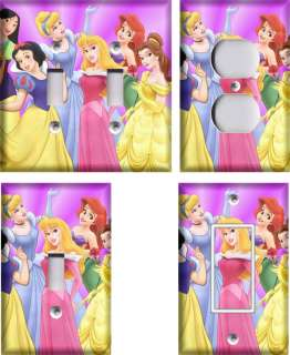 Disney Princesses #2 Light Switch Plate