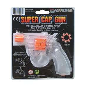 TRANSPARENT SUPER CAP GUN: Toys & Games