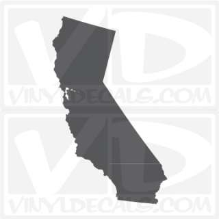 California Style 1 State Vinyl Decal Sticker Cali