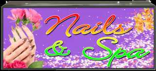 BOX SIGN NAILS & SPA  LB018 led neon open