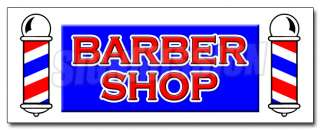 24 BARBER SHOP DECAL sticker hair salon parlor cut equipment supplies