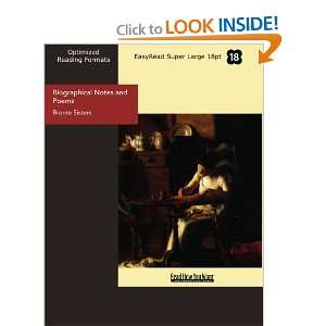 : Biographical Notes and Poems (9781427021007): Bronte Sisters: Books