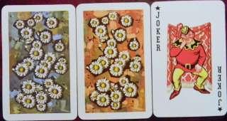 JOKER PAIR PLUMP JESTER WINKING KEM PLASTIC PLAYING CARD NAMED