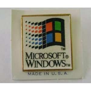Microsoft Windows Button Pin Badge