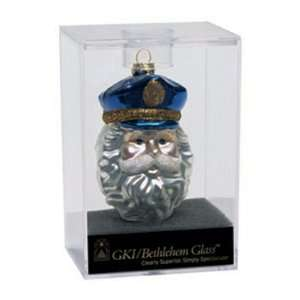 Santa Claus Head Glass Christmas Ornament #822011