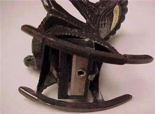 Pencil Sharpener Vintage Die Cast Wicker Rocking Chair  9508C