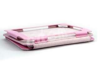 Pink New Leather Case Cover for  Kindle 4th 3G WiFi with LED