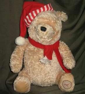 Classic Winnie the Pooh Plush Scarf Plastic Toy Lot Santa Hat Tigger