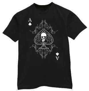 Ace of Spades shirt Skull Biker Playing Card T shirt