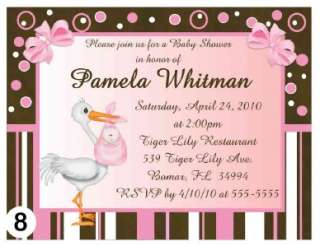 20 MODERN MOM BABY SHOWER INVITATIONS PINK, BLUE, GREEN