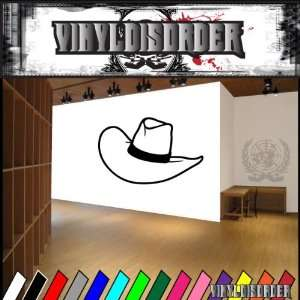 Western Cowboy Hat NS012 Vinyl Decal Wall Art Sticker