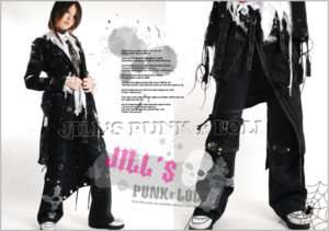 Punk Rock Gothic Strap Buckle Pants Skirt Wrap 056