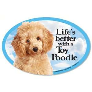 Poodle Toy Oval Dog Magnet for Cars Pet Supplies