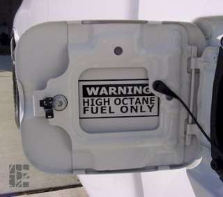 Warning High Octane Fuel Only Graphic Sticker Decal